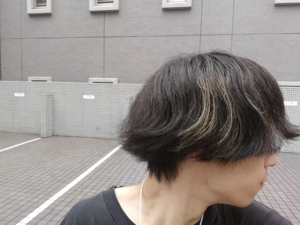 ブルーブラック 3週間後の色落ち 2