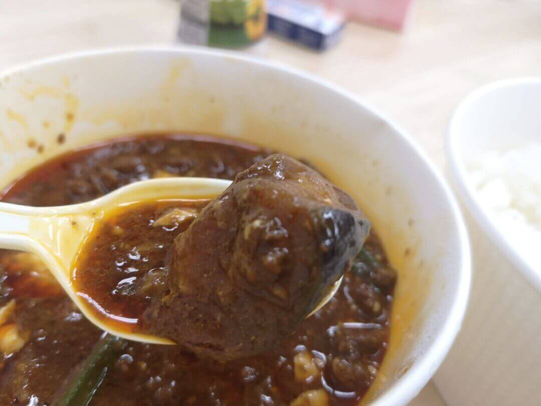 麻婆豆腐のナス